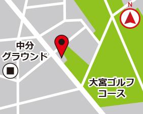 中分スターズレンタルボックスの地図