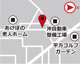 上野スターズレンタルボックスの地図